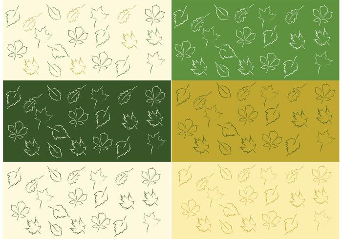 Gratis Vector Leaf Pattern Set