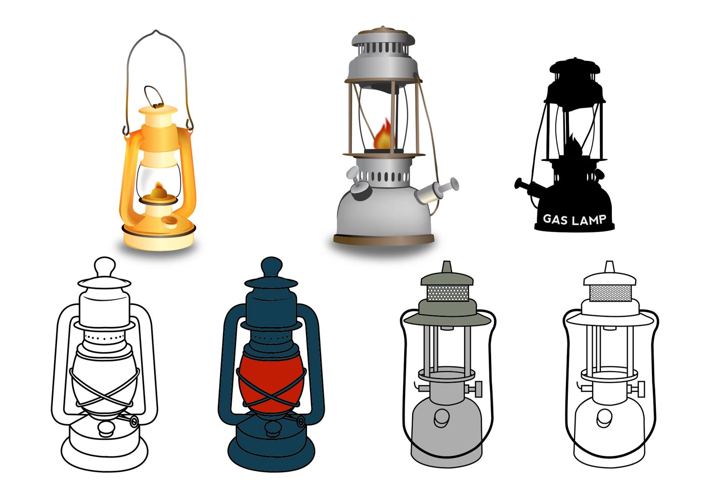 Gas Lamp Vectors Download Free Vector Art Stock