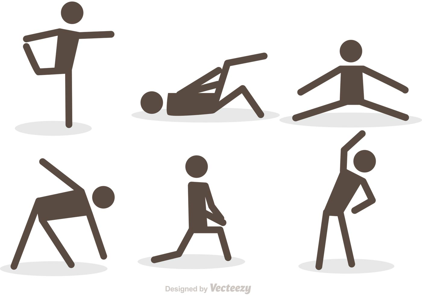 Workout Stick Figure Icons Vector Pack - Download Free ...