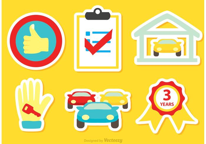 Car Dealership Icons Vector
