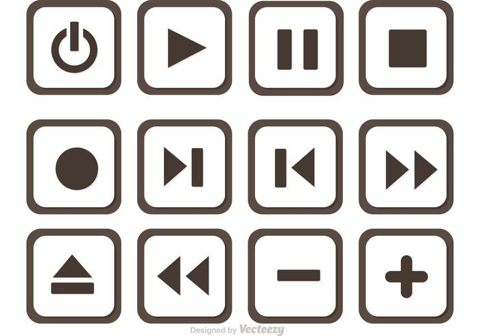 Set Of Media Player Button Vector