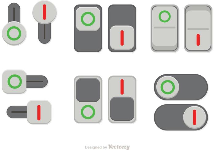 Switch On Off Button Vectors