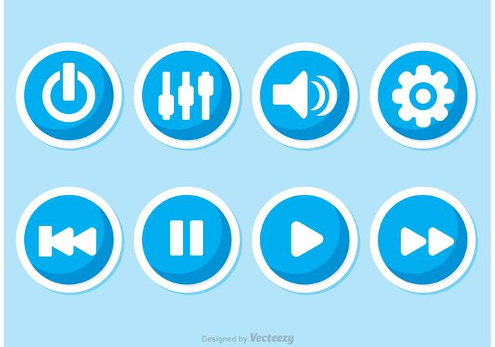 Music Player Button Vectors