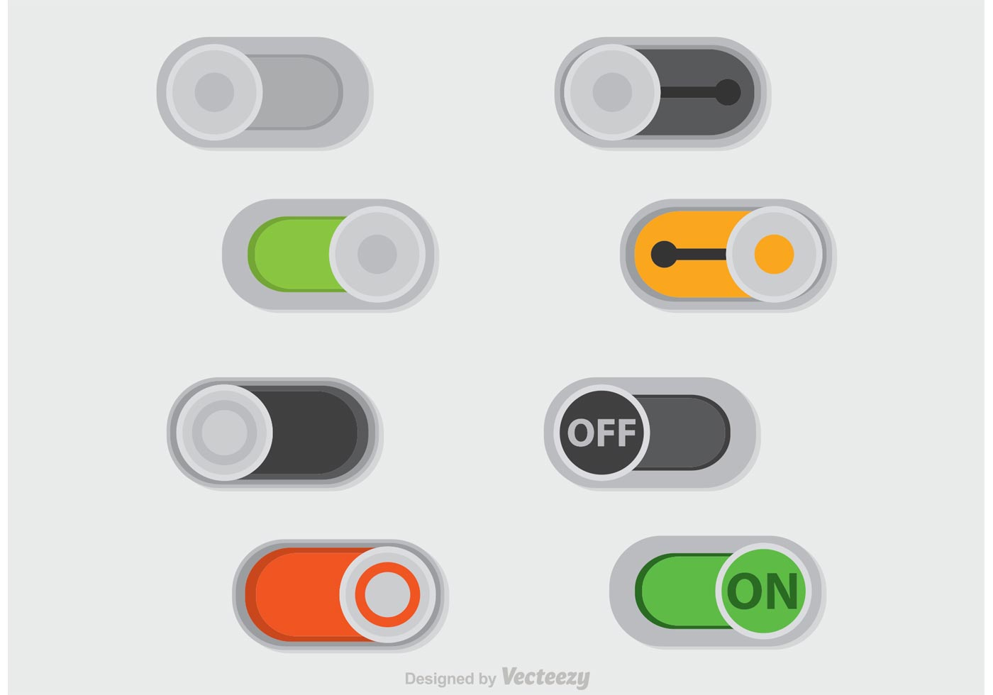 On Off Sliders Button Vector Download Free Vector Art