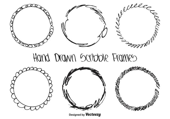 Hand Drawn Scribble Frame Set