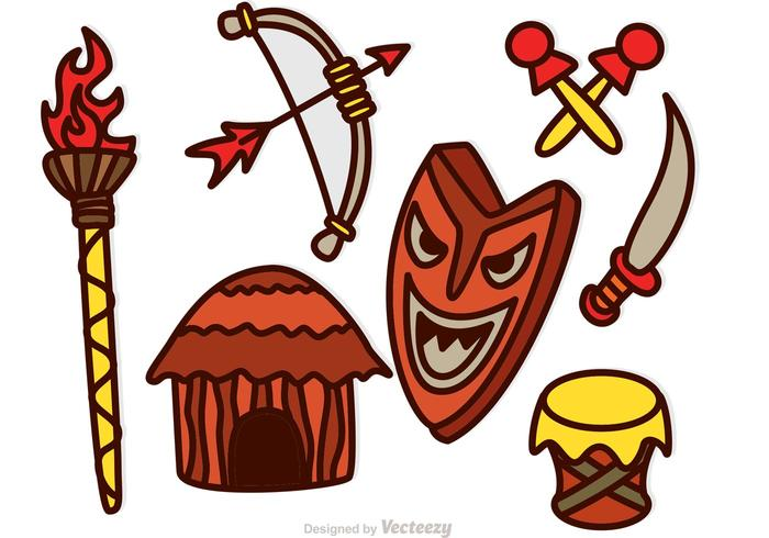 Tiki Icons Vectors