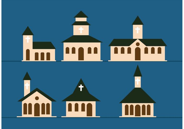 Country Church Vectors