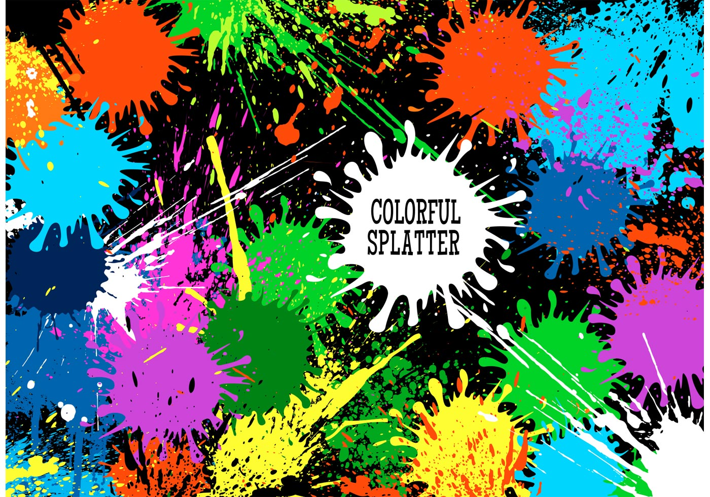 Free Vector Colorful Splatter Background - Download Free ...