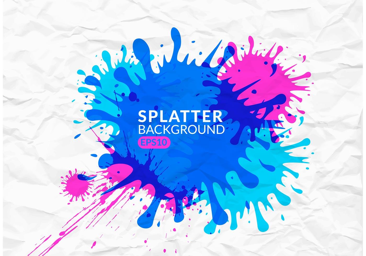 Splatter Background Vector Art & Graphics | freevector.com