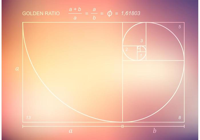 Free Vector Golden Ratio On Blurred Background
