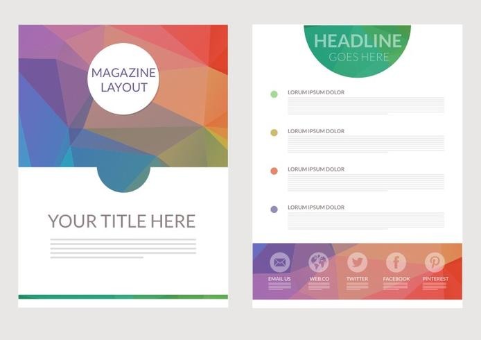 Free Abstract Triangular Magazine Layout Vector - Download