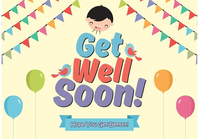Get Well Soon Cards Vector Free Download Free Vector Art Stock