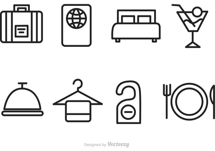 Hotel And Travel Vector Icons