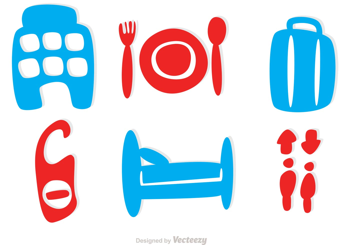 Simple Hotel Icons Vector