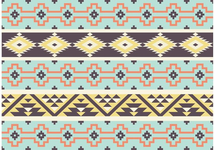 Aztec Mayan Tribal Pattern Vector
