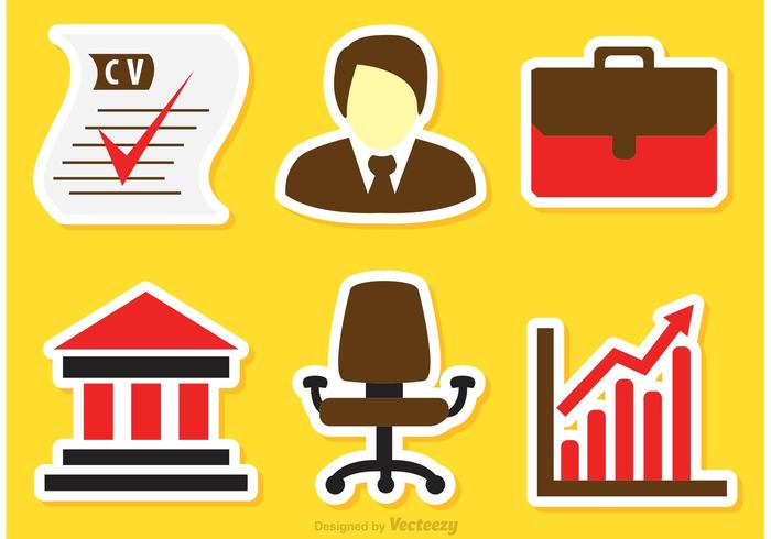 Job Business Icons Vectors