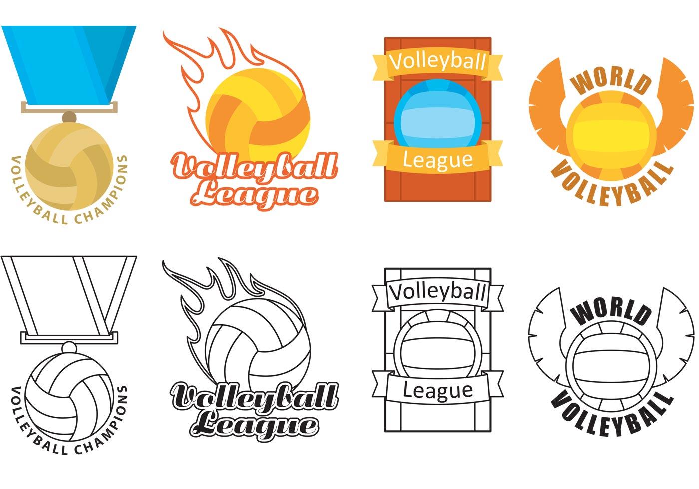 Volleyball Logo Vectors Download Free Vector Art Stock