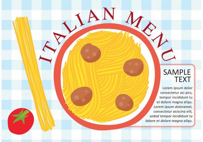 Italian Pasta Plate Vector