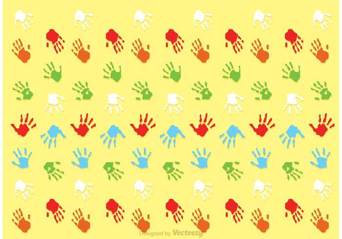 Child Handprint Pattern Vector