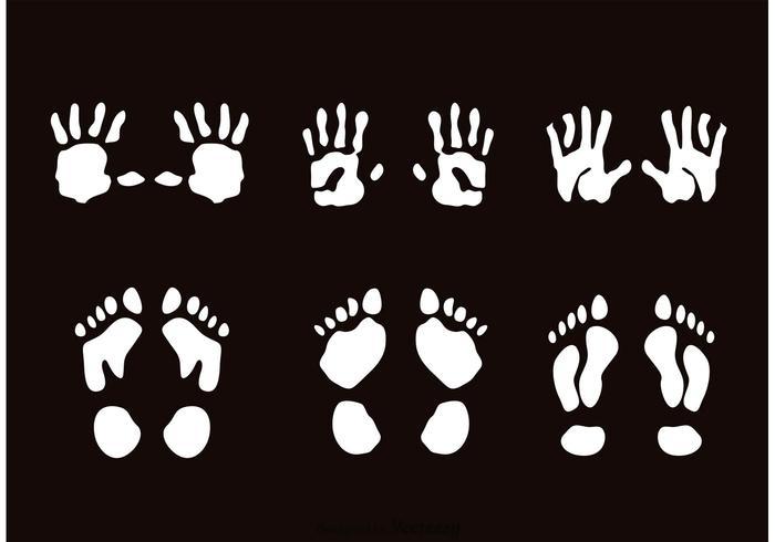 Child Handprint And Footprint Vectors
