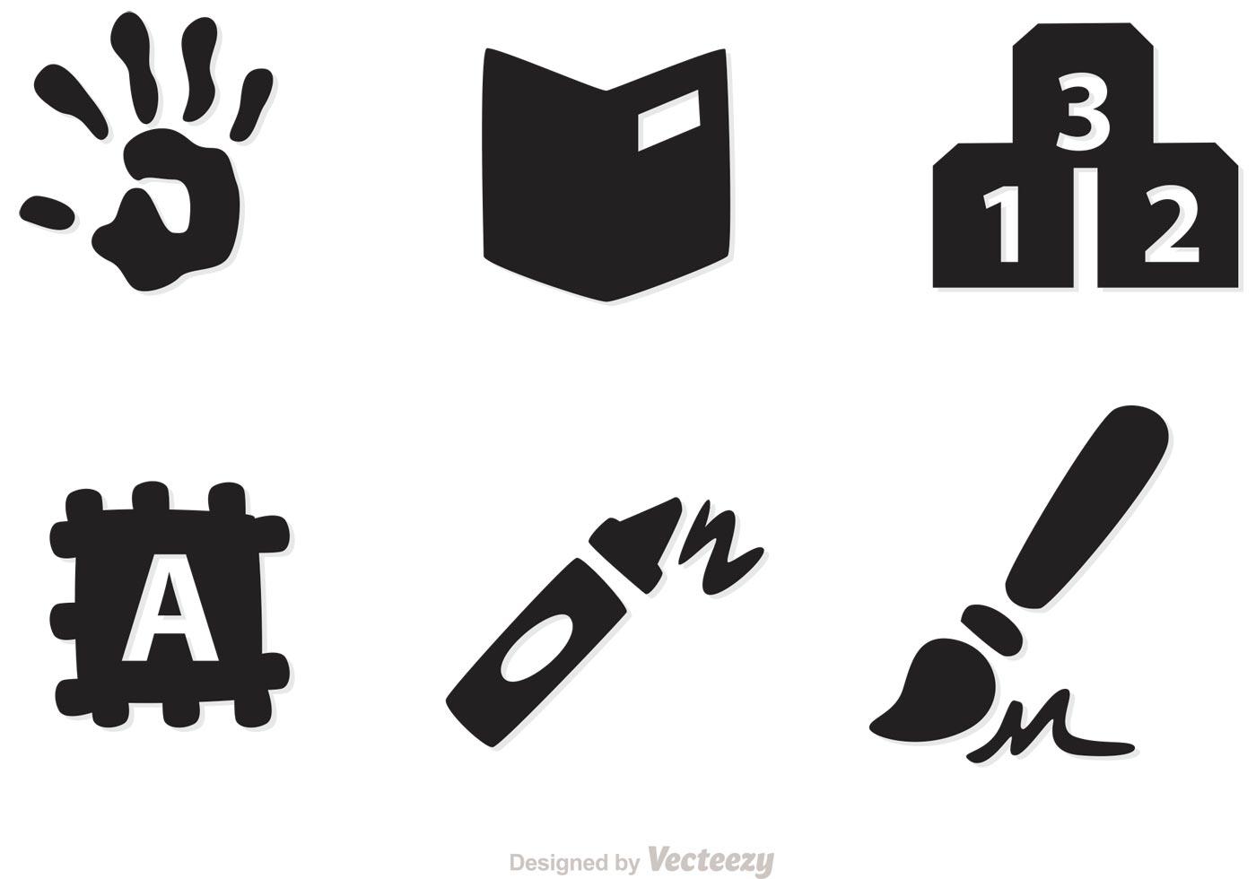 Vector Drawing Lines Kindergarten : Preschool icons vectors download free vector art stock
