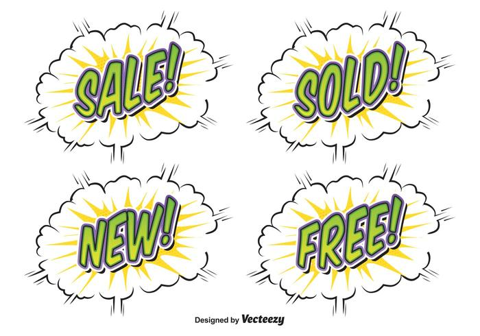 Comic Style Sale Etiketter