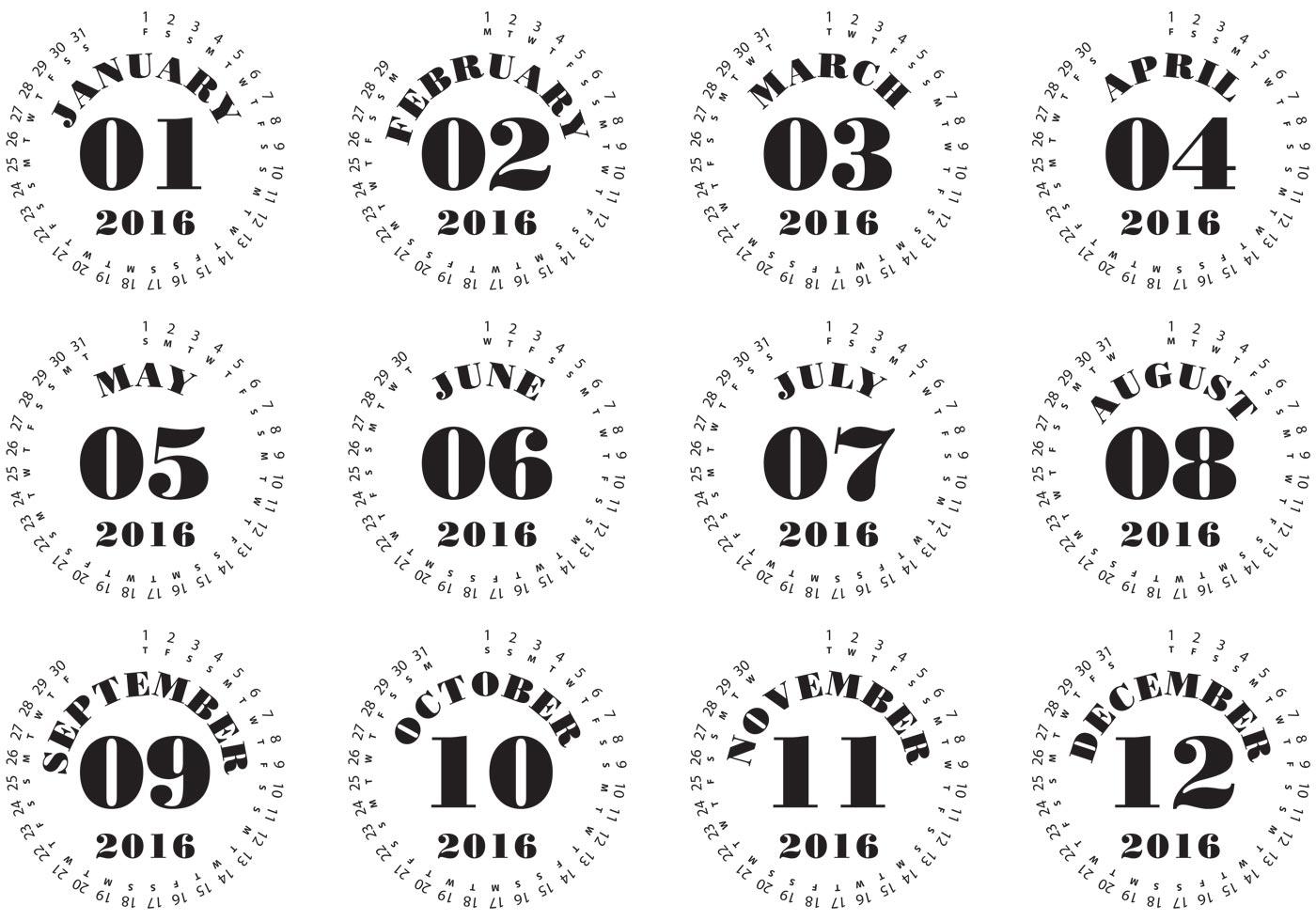 Typography Calendar Download : Typographic calendar download free vector art