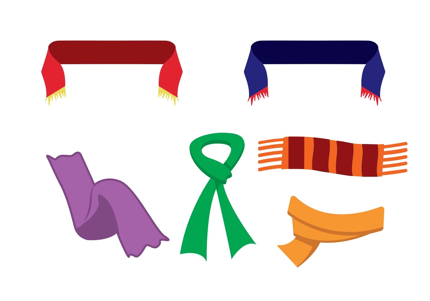 Free Vector Neck Scarf Icons Download Free Vector Art