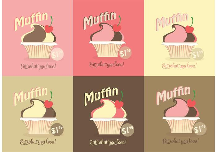 Free Vector Muffin Set