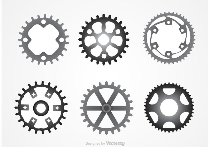 Metal Bike Sprockets vektorer
