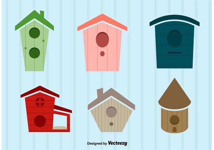 Ilustraciones vectoriales de la casa del pájaro vector