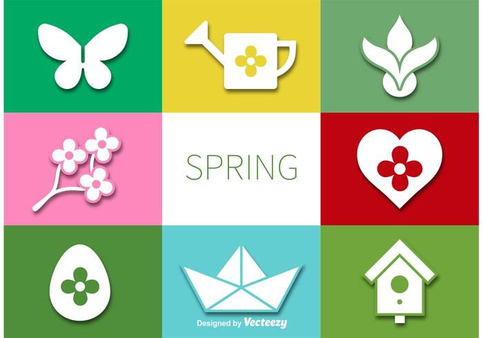 Vector Spring Flat Iconset