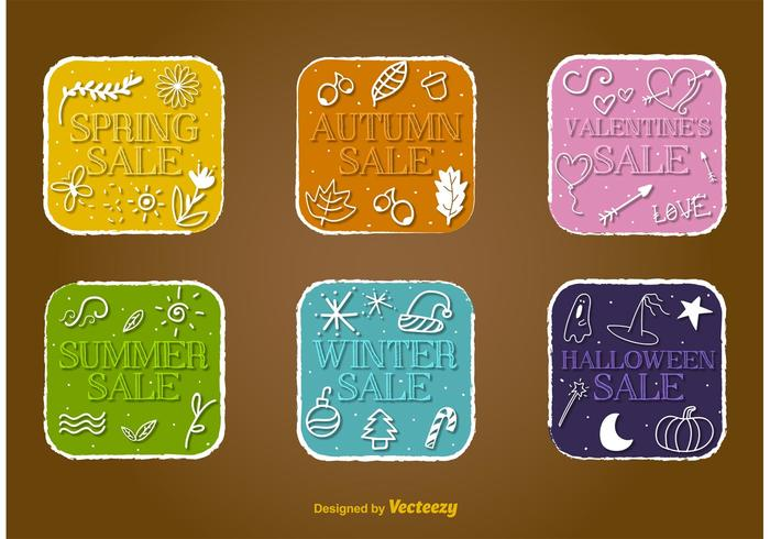 Seasonal Sale Vector Badges