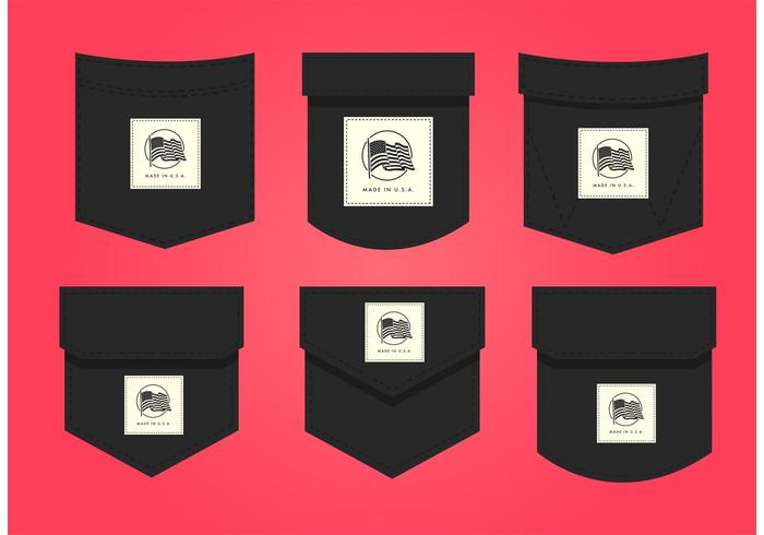 Made In USA Pocket Label Vectors