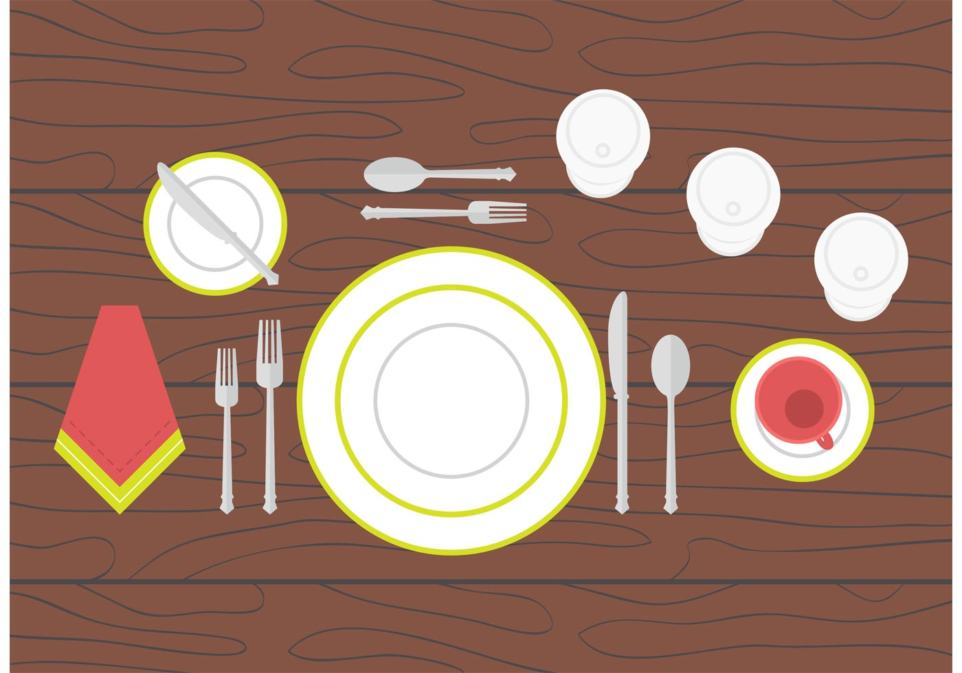 Dinner table setting download free vector art stock for Clipart to download for free