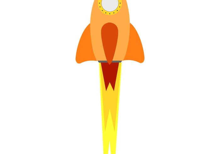 Flashy Rocket Ship Vector