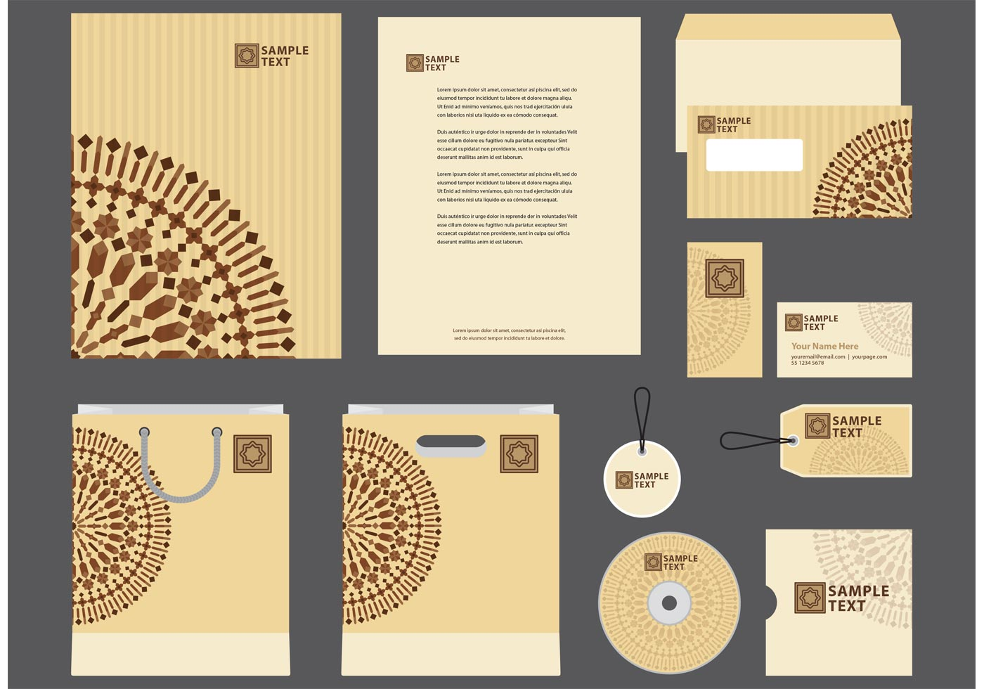 how to make a company profile template - morocco motif company profile template vector download