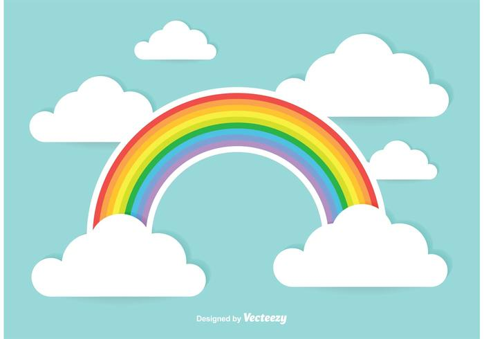 Nette Regenbogen-Illustration
