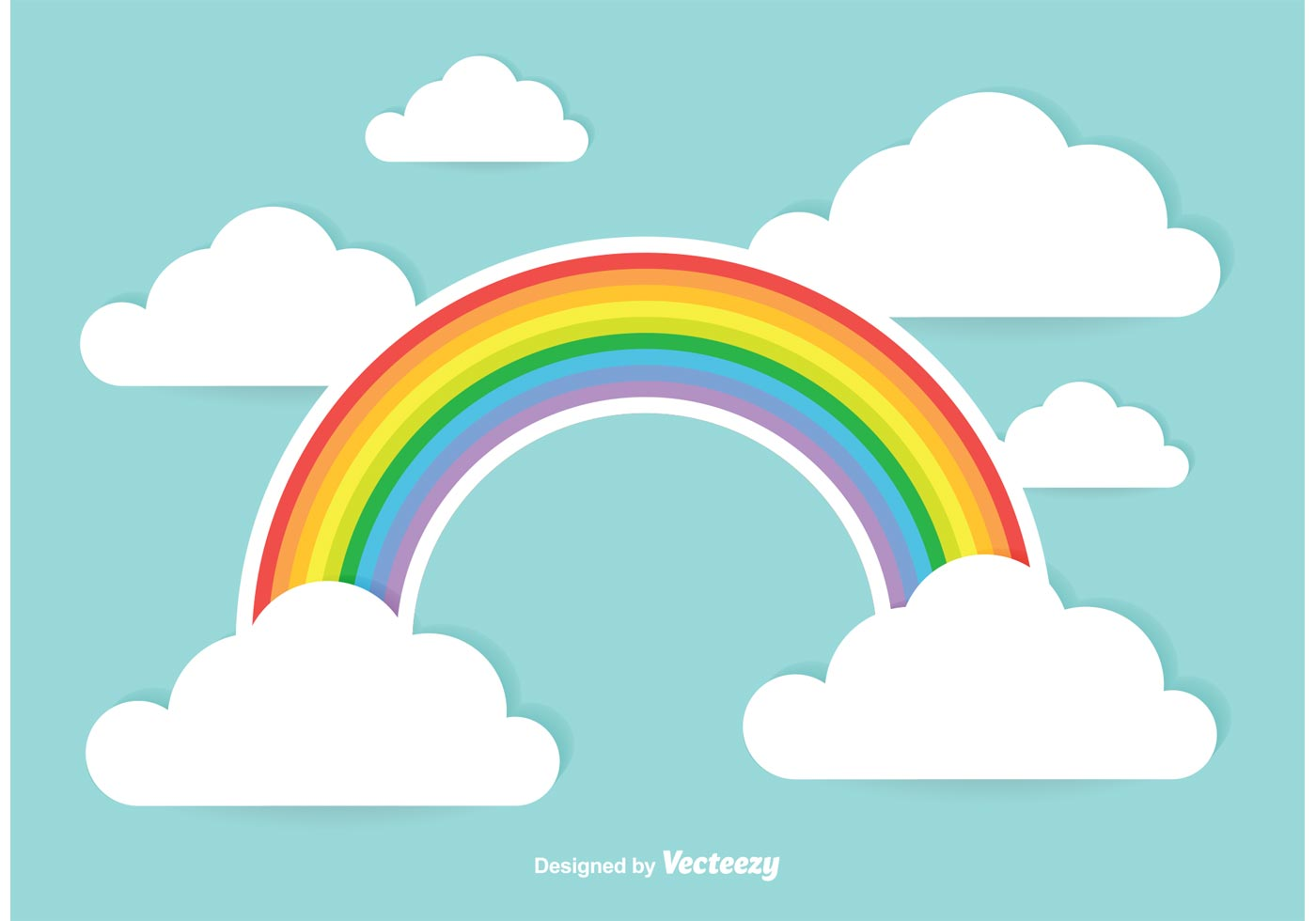 Cute Rainbow Illustration Vector