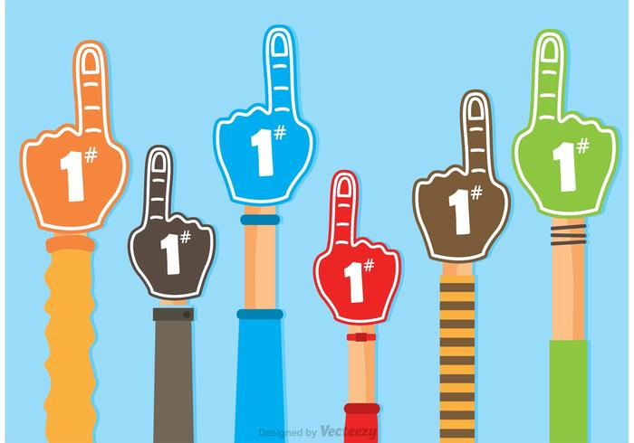 #1 Foam Finger Vectors
