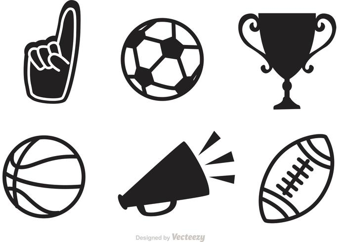 Black Sports Vector Icons