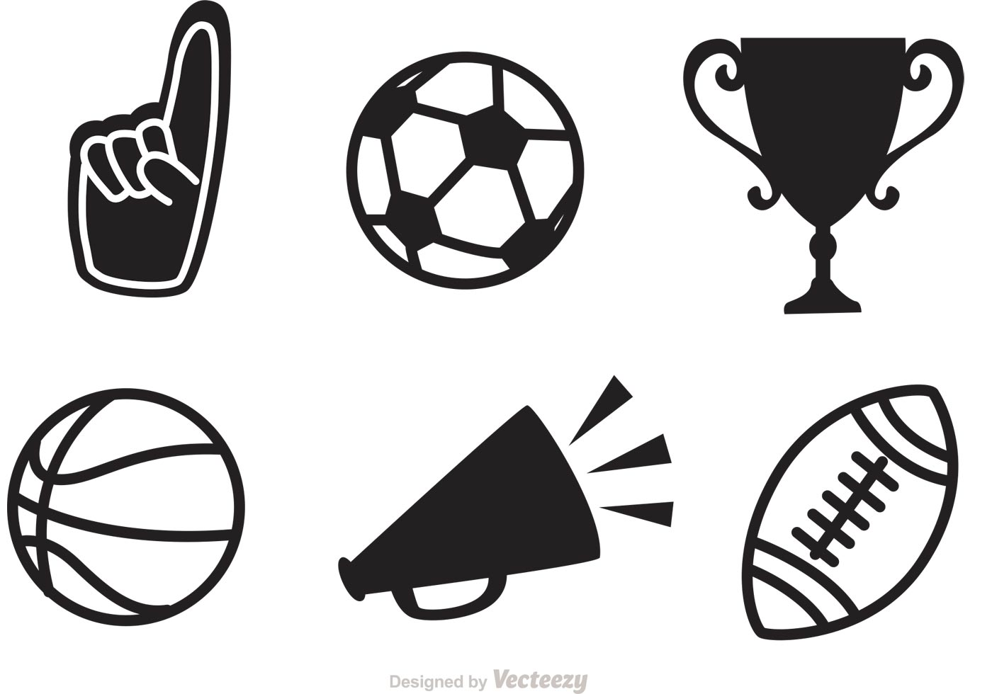 89646 Black Sports Vector Icons on baseball vector graphics
