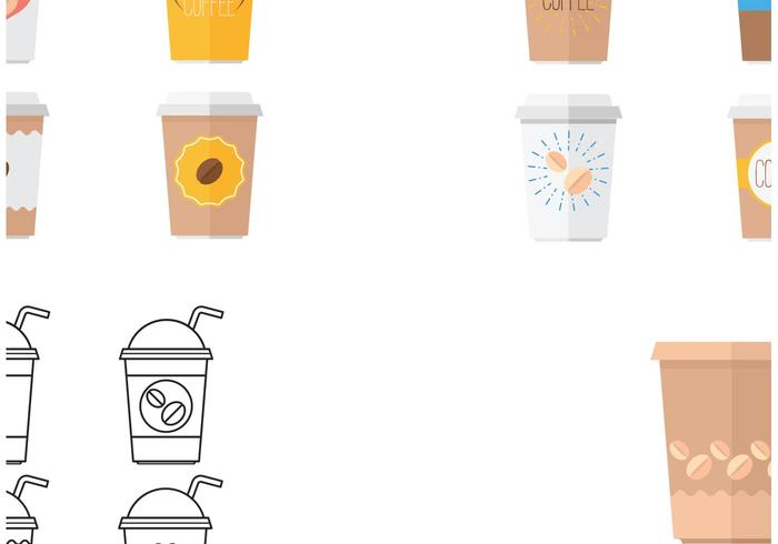 Plastic Coffee Cup Vectors