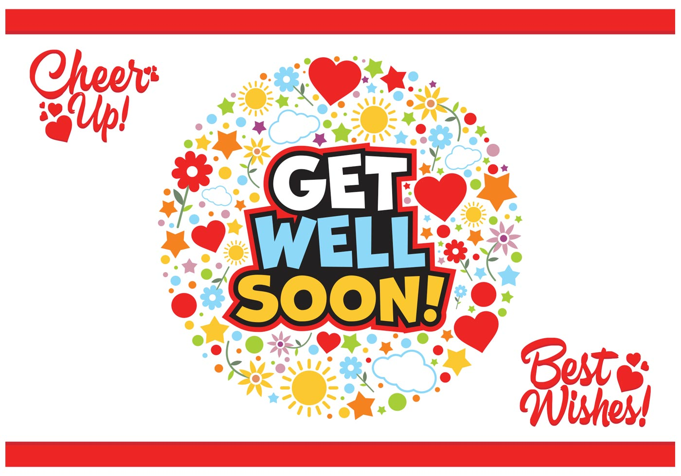 Get Well Soon Cards Vector Free - Download Free Vector Art ...