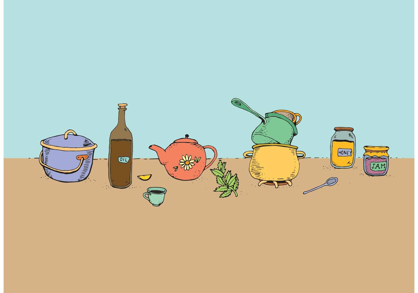 Vector Cooking Pots And Pans Download Free Vector Art