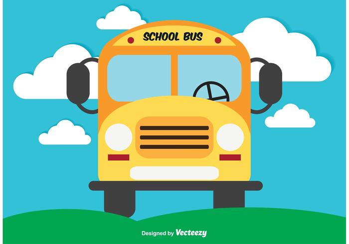 Cute School Bus Vector Illustration