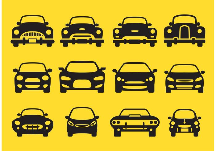 Car Silhouette Front Icons