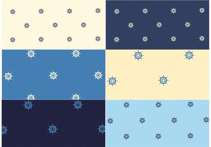 Free Vector Nautical Pattern Set