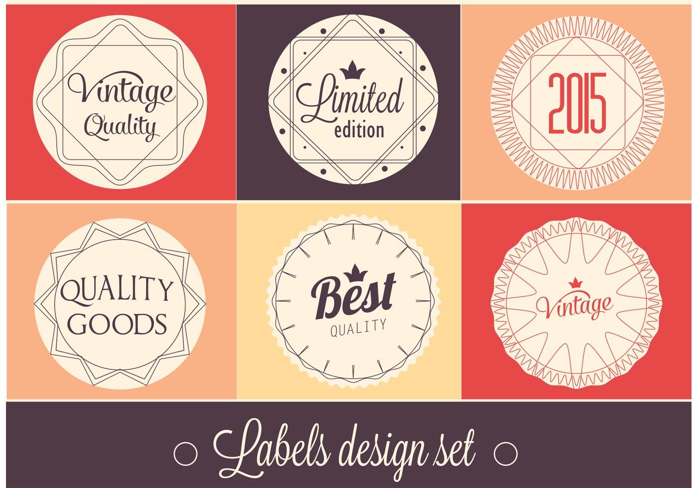 free vector label design set download free vector art stock