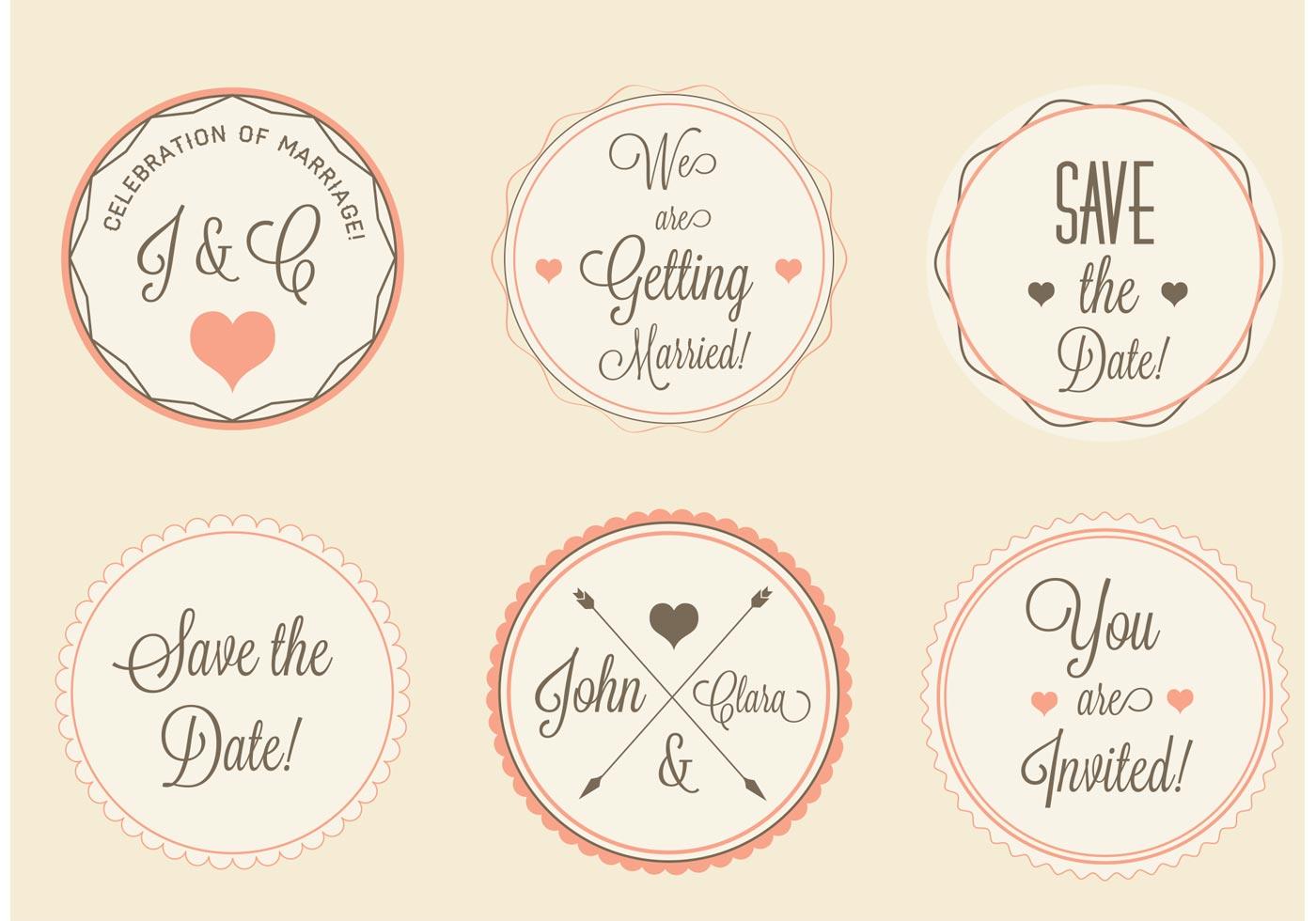 Wedding labels set download free vector art stock graphics amp images